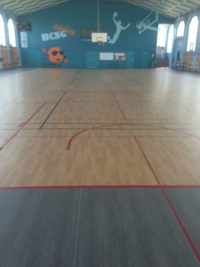 Sol plastique salle de sport