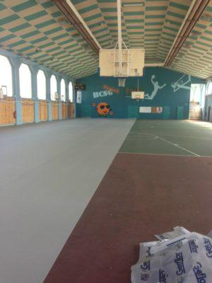 pose sol salle de sport